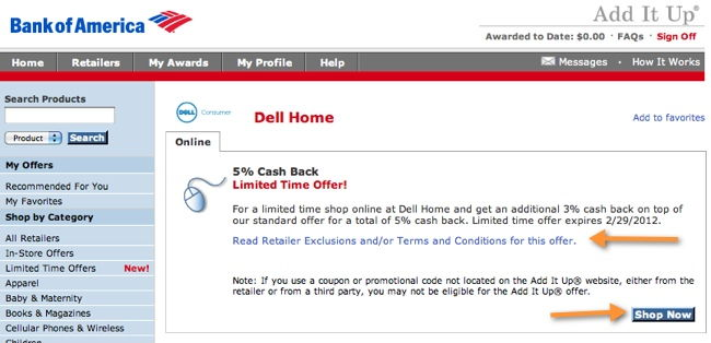 add it up dell.com example