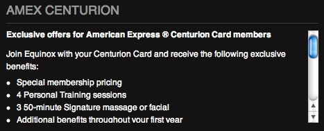 amex centurion equinox benefits 1