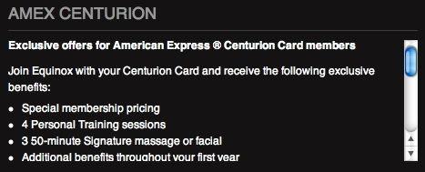 amex centurion equinox benefits 1
