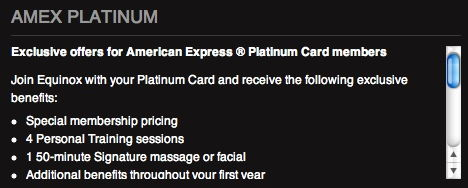 amex platinum equinox benefits 1