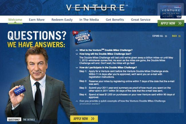 capital one venture 100000 bonus miles application page