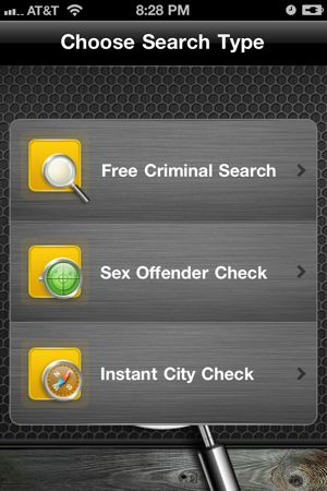 criminal pages menu