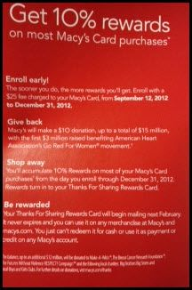 Benefits Opening Macy Credit Card