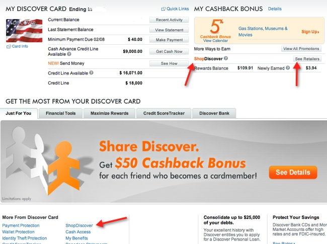 discover card login /