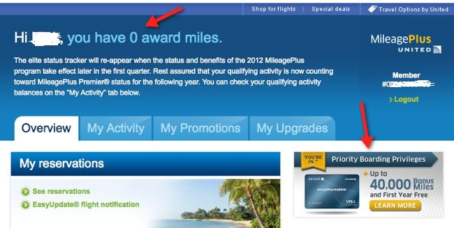 united account no miles 40000 offer