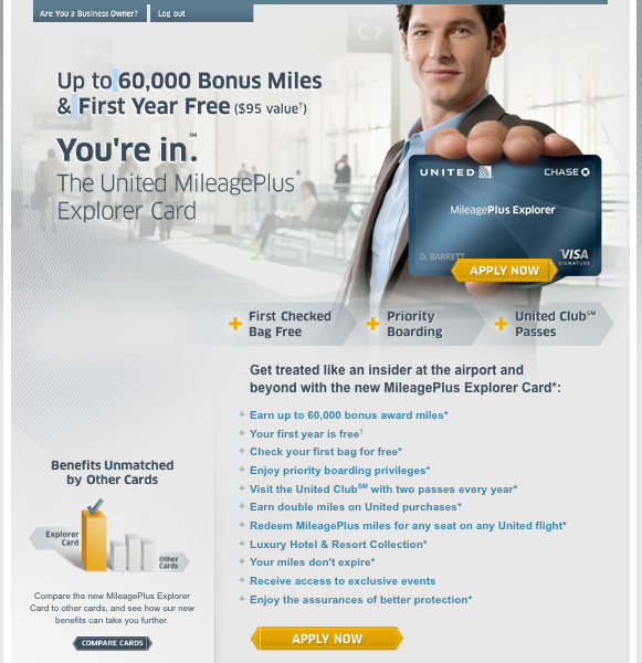 united 60000 targeted offer