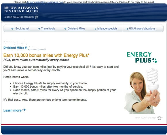 usairways energy plus email