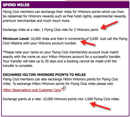 virgin hilton hhonors 1:2 transfer