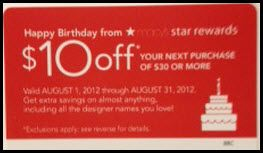 Valid for Macy's Cardholders only. Must use Macy's card or Macy's Gift, Rewards or EZ Exchange Card & show Macy's Credit Card at time of purchase. Can't be combined with savings pass/coupon/extra discount/credit offer except opening new Macy's account. Can't be used as payment or credit on your account.