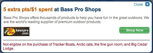 bass pro shop ultimate rewards mall