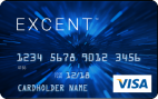 Picture of Excent<sup>TM</sup> Secured Visa Blue Card