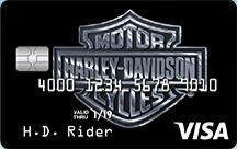 Picture of Harley Davidson Secured Visa