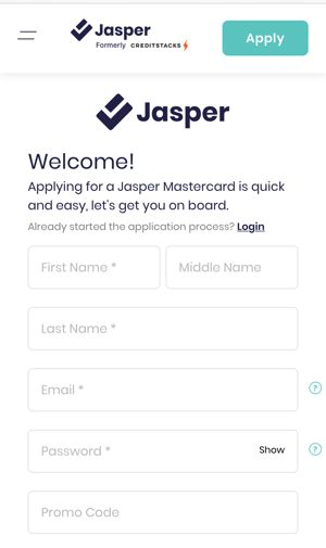 jasper application page