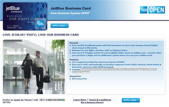 jet blue application page 1 - Jetblue Business Card