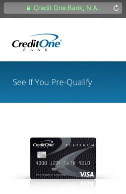 credit one application