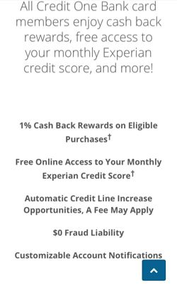 Credit One Application >> Credit One Bank Visa Credit Card 1 Back On Gas And
