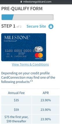 milestone application page