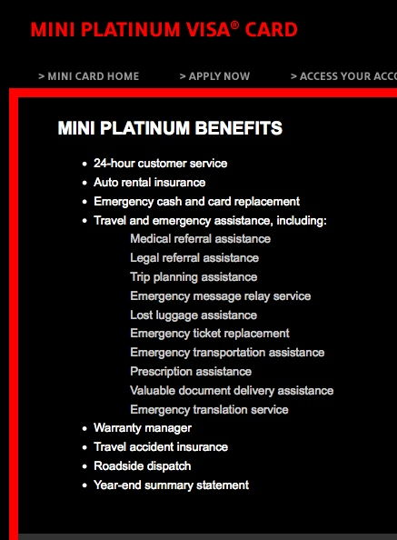 mini platinum benefits