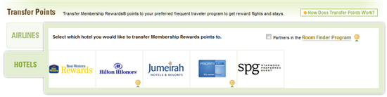 membership rewards frequent guest partners