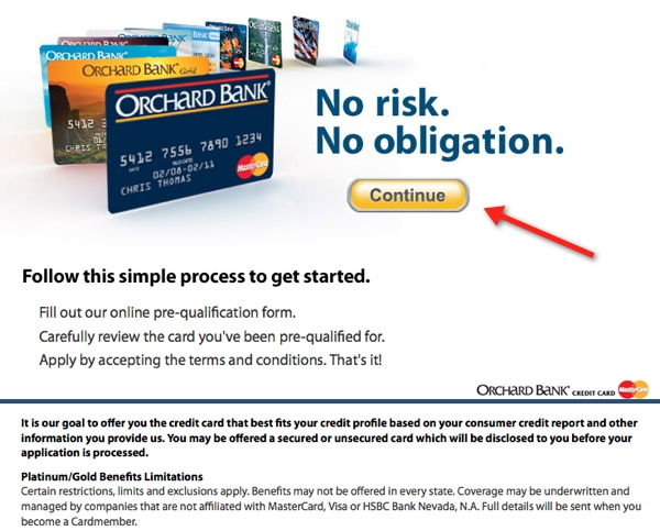 orchard bank landing page