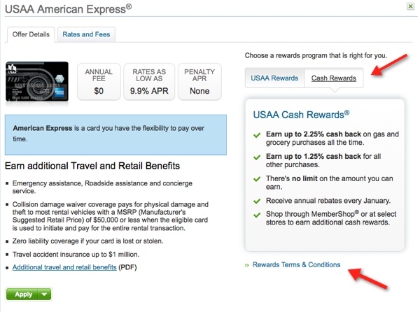 choosing the usaa amex version