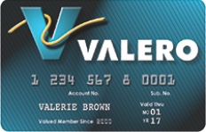 Picture of Valero Credit Card