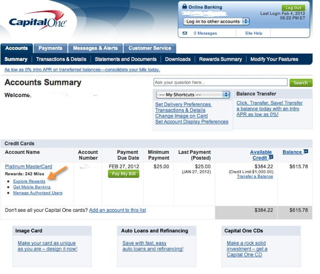 Capital One Perk Central Online Shopping Portal Review