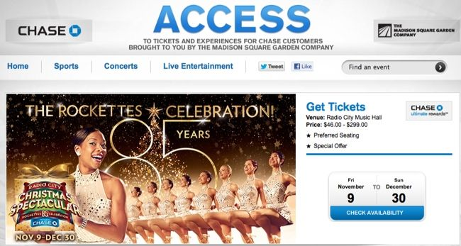 radio city christmas spectacular tickets through chase - How Long Is The Radio City Christmas Show